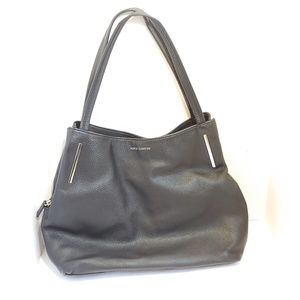 Vince Camuto black leather hobo